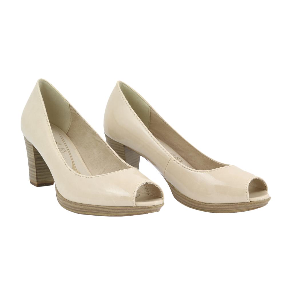 Dámské boty Jana 8-29302-22 Krémová Syntetika