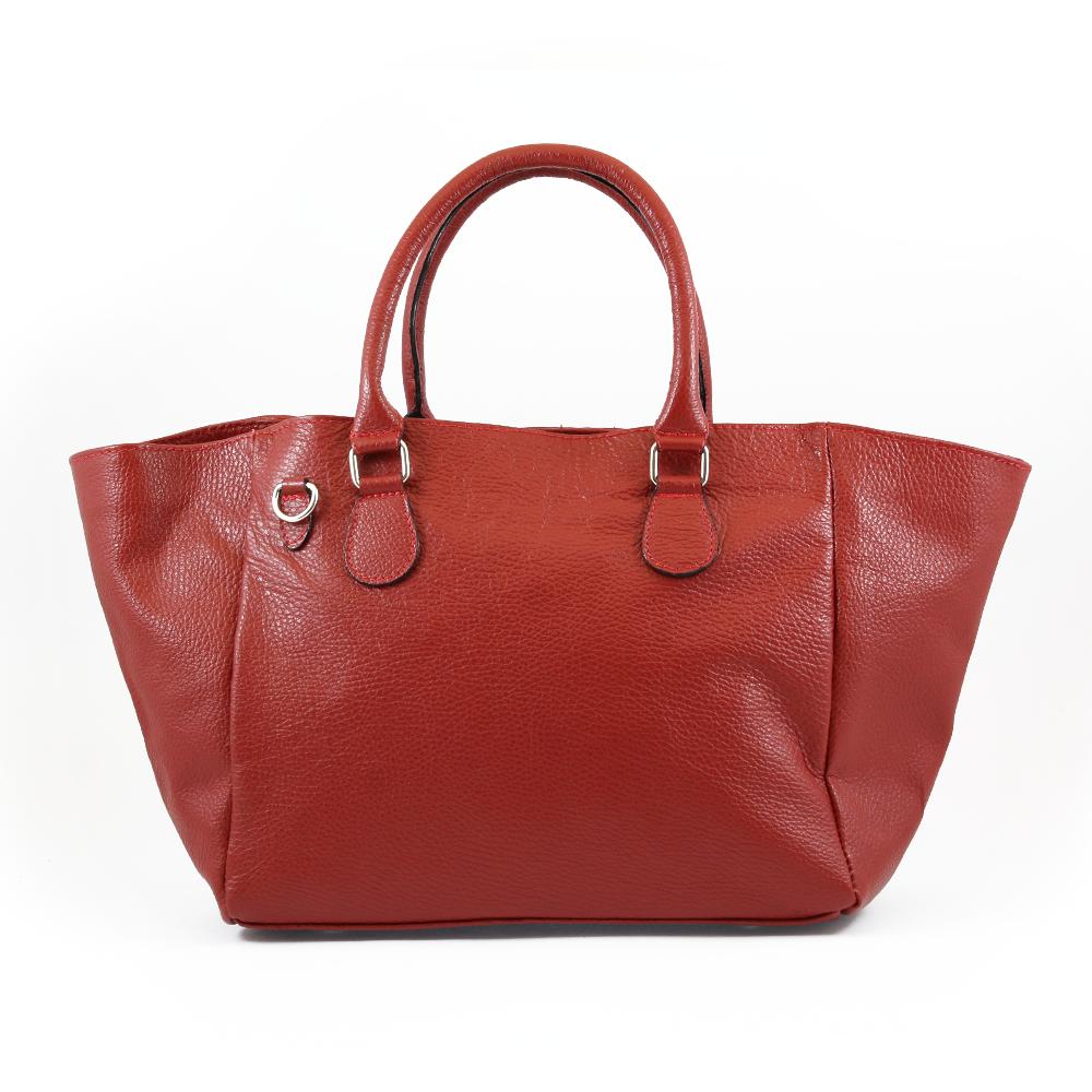 Italská kabelka Amalea allegra Červená Kůže