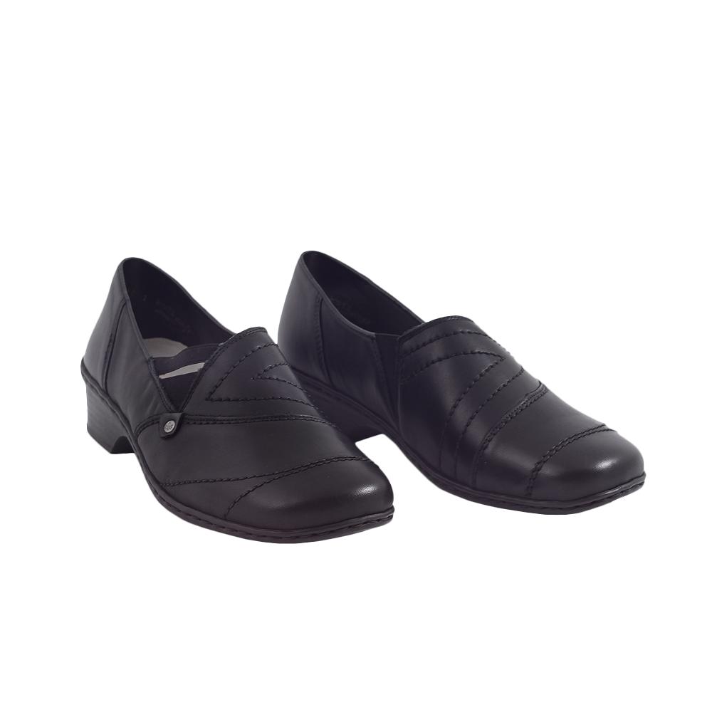 Dámské boty Rieker 48260-01 Černá Kůže