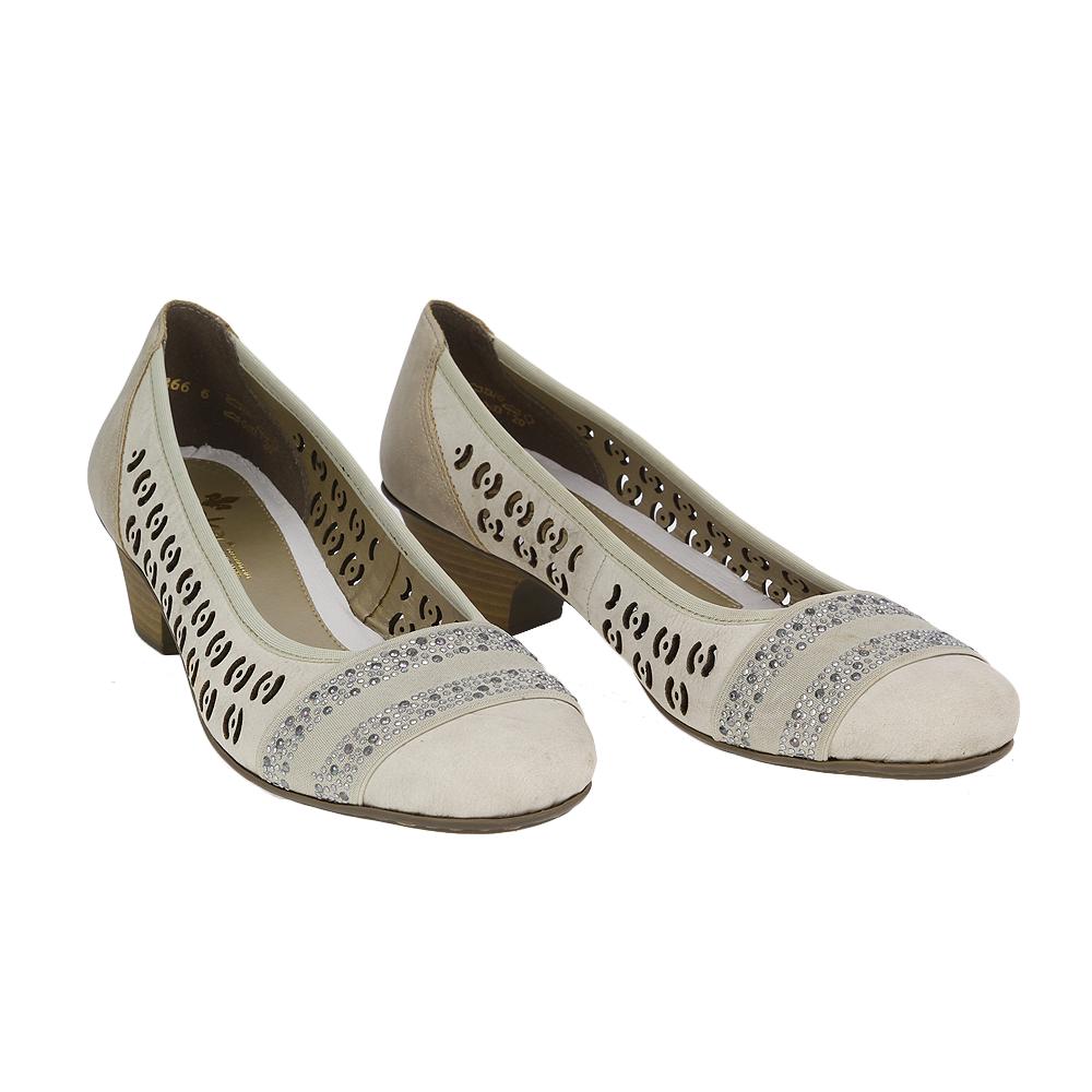 Dámské boty Rieker 42376-60 Béžová Kůže
