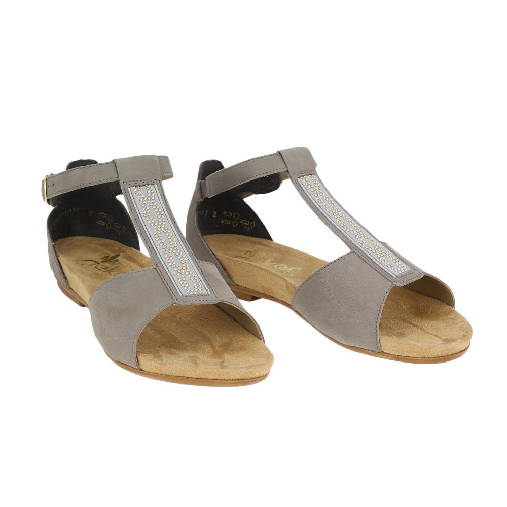 Dámské boty Rieker V1759-42 Šedá Kůže
