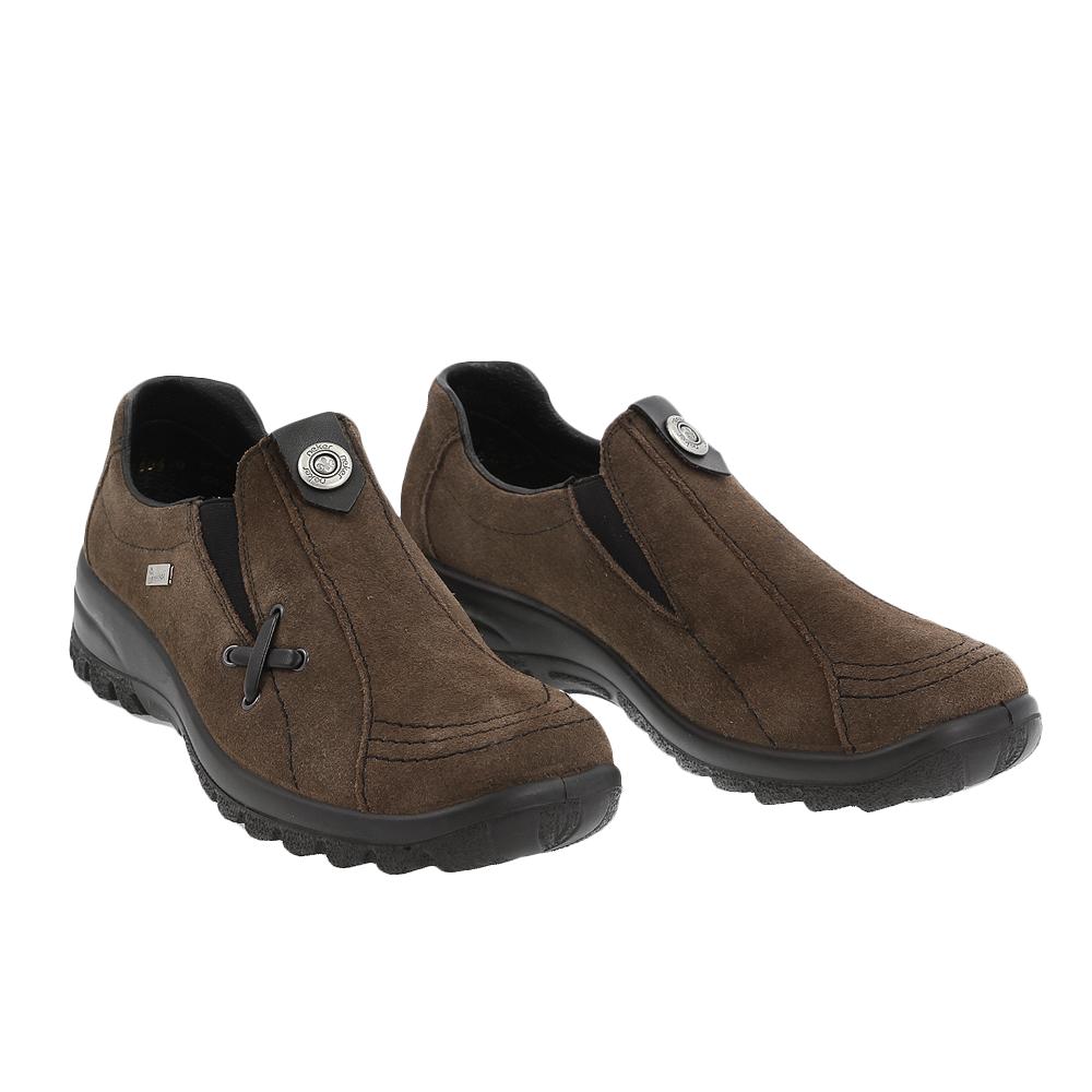 Dámské boty Rieker L7171-45 Hnědá Broušená kůže