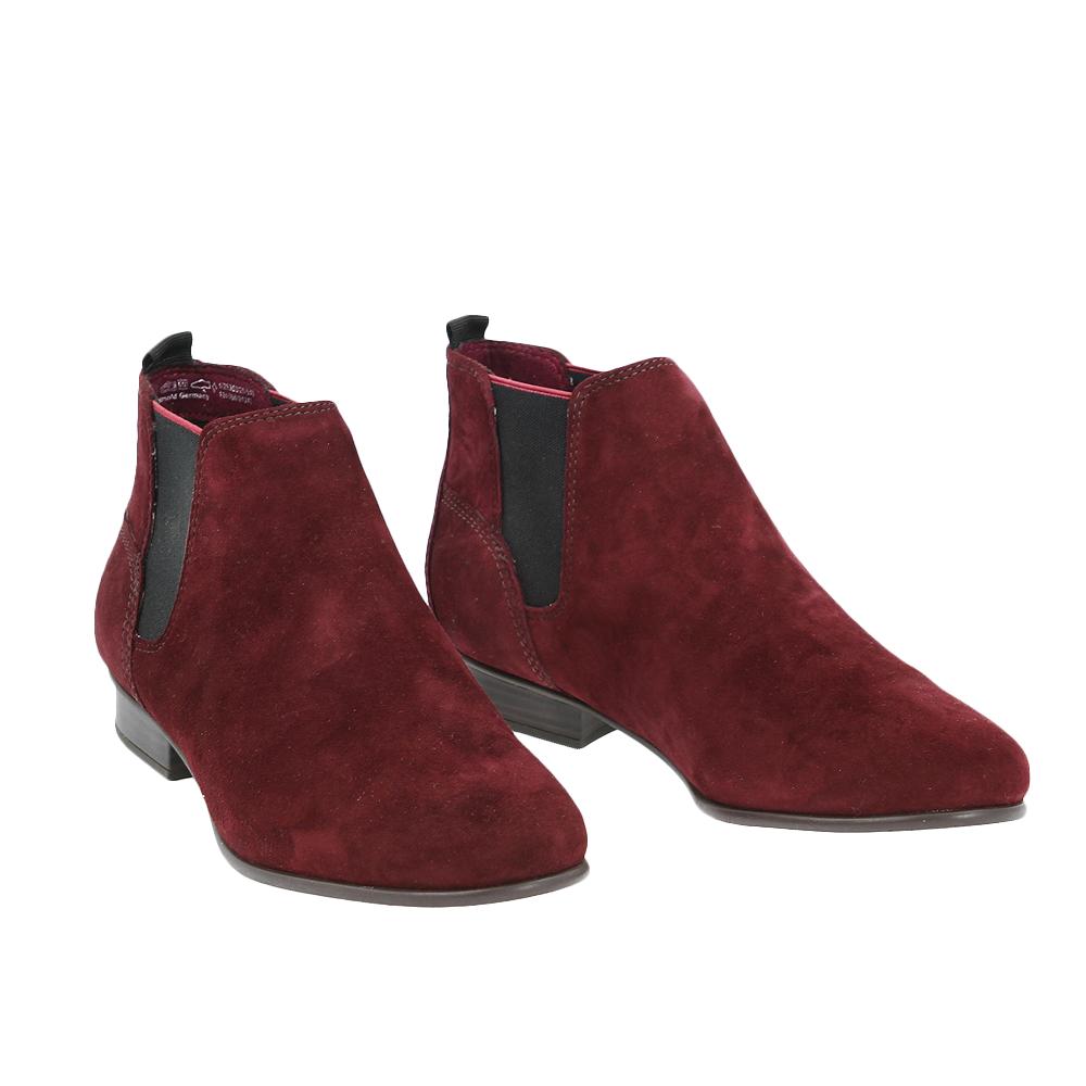 Dámské boty Tamaris 1-25353-25 bordeaux Semiš