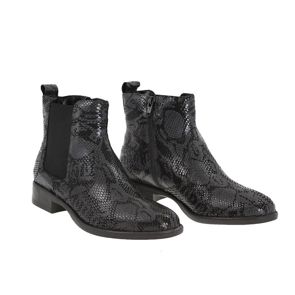 Dámské boty Tamaris 1-25036-25 black comb Kůže
