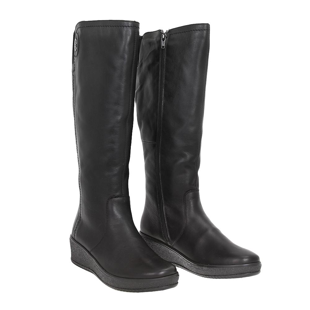 Dámské boty Rieker Y4452-00 Černá Kůže