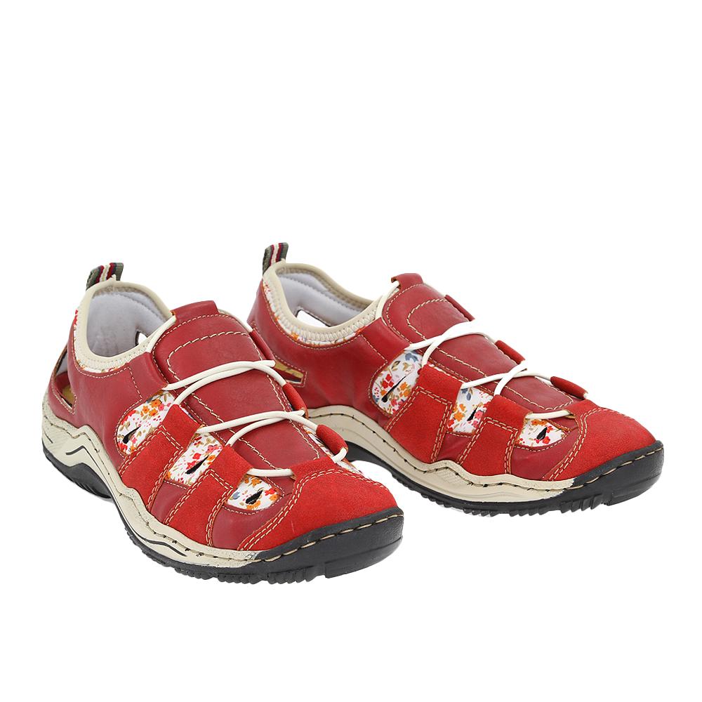 Dámské boty Rieker L0561 Červená Syntetika