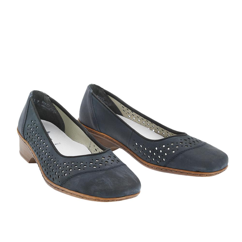Dámské boty Rieker 48285-14 Modrá Kůže
