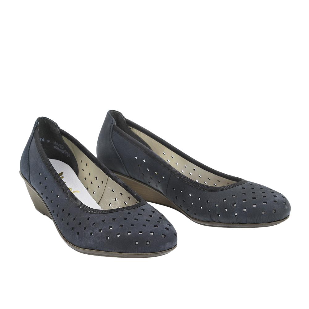 Dámské boty Rieker 43267-14 Modrá Nubuc Leather