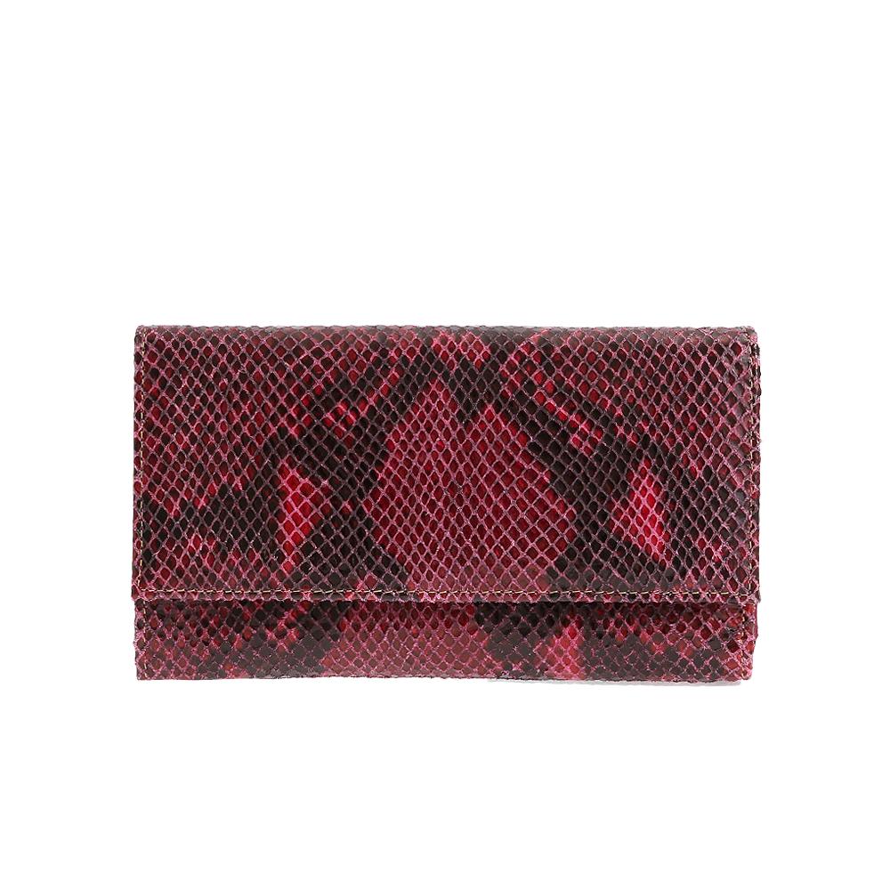 Peněženka PT - 7046 fuxia comb Hadí Kůže