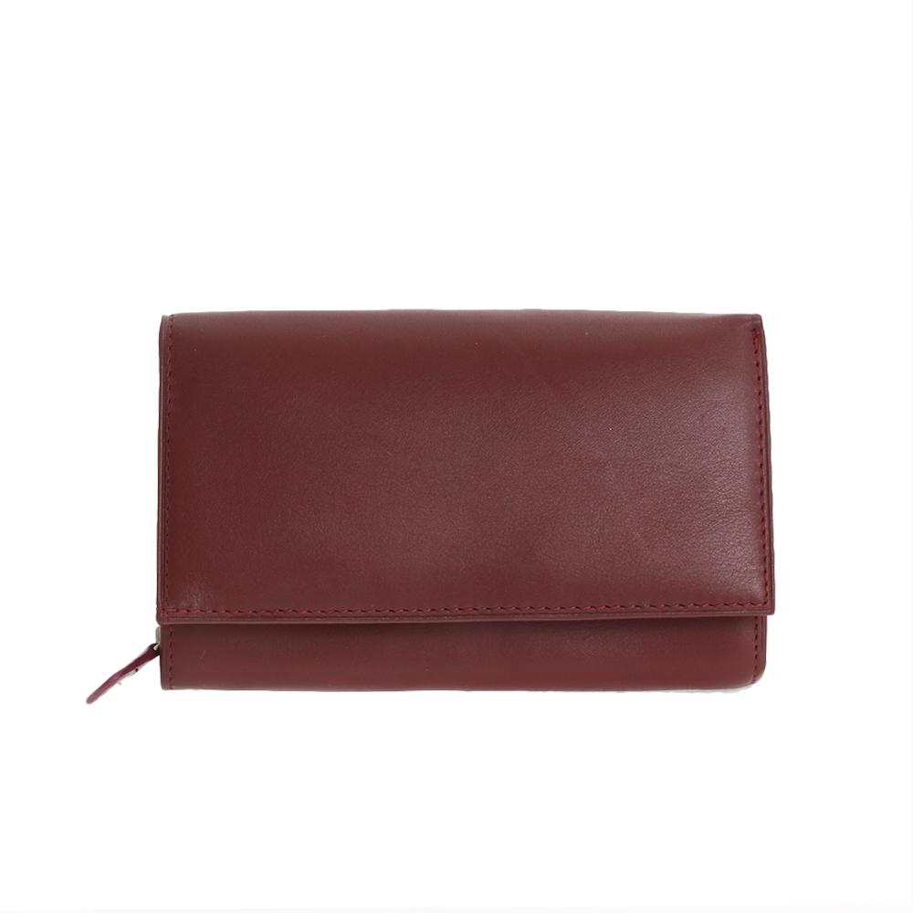 Peněženka NA - 8284 bordeaux Kůže