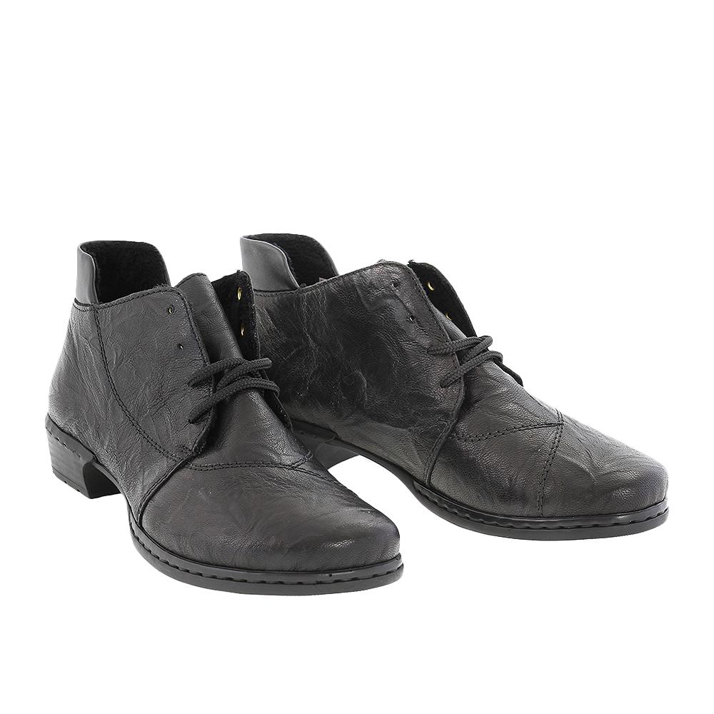 Dámské boty Rieker 52240-00 Černá Kůže