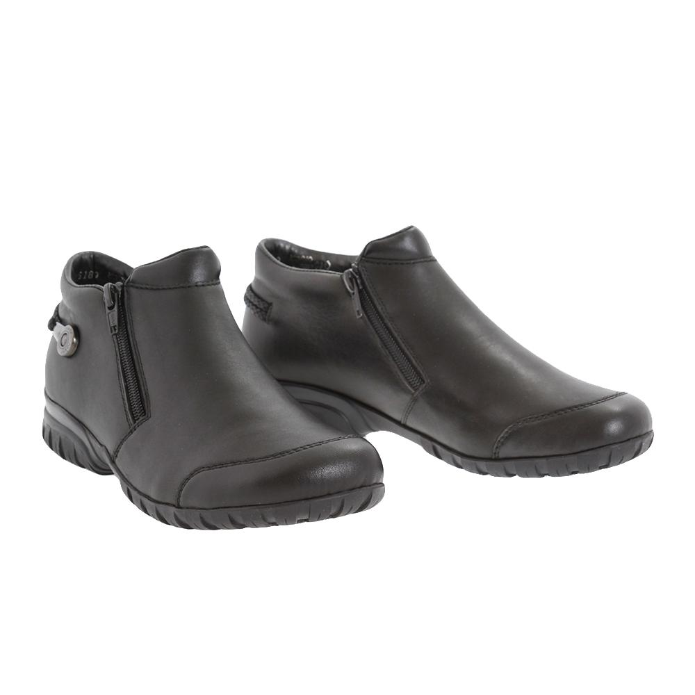 Dámské boty Rieker L4685-00 Černá Kůže