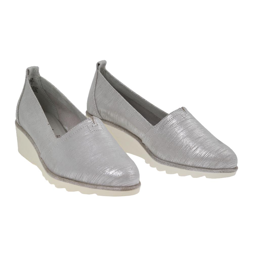 Dámské boty Tamaris 1-24614-28 stříbrná Kůže