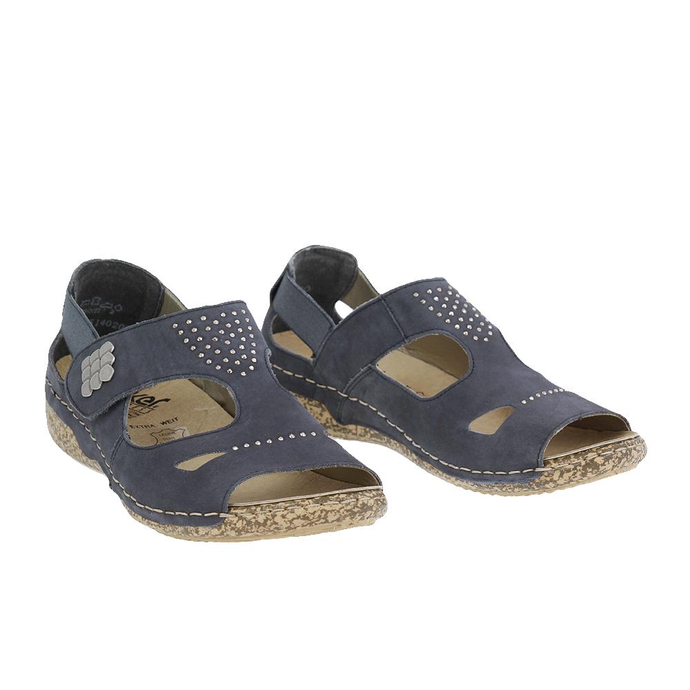 Dámské boty Rieker V7264-14 Modrá Kůže