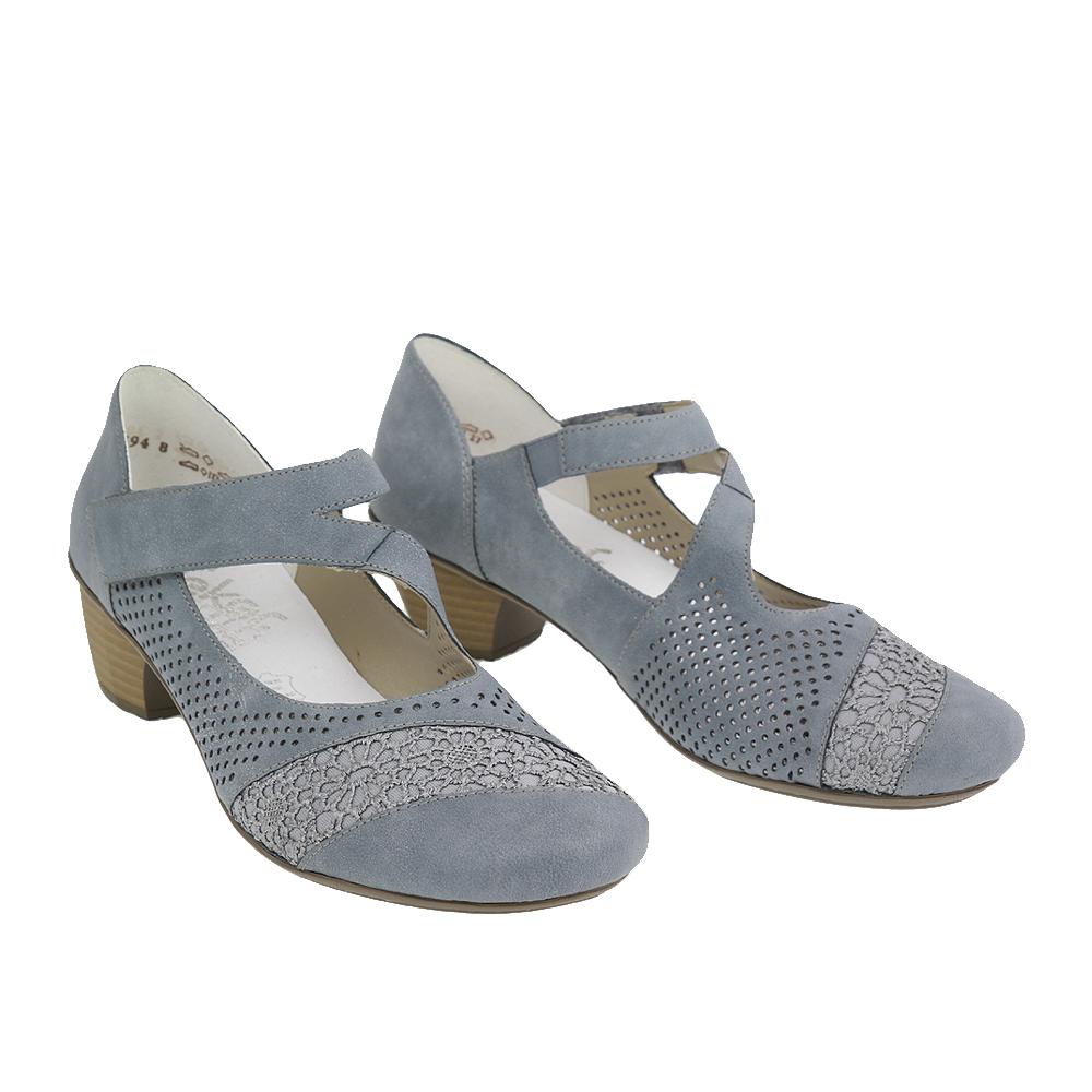 Dámské boty Rieker 41743-12 Modrá kůže/syntetika