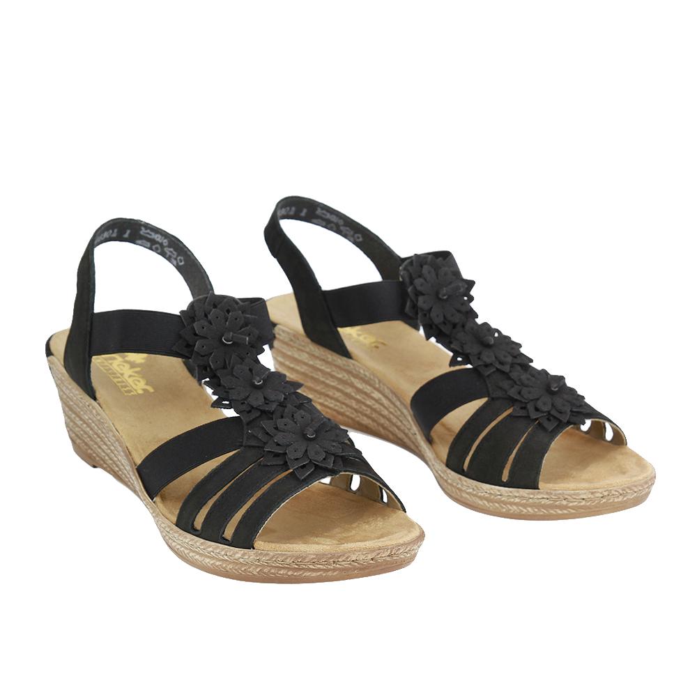 Dámské boty Rieker 62461 Černá kůže/syntetika
