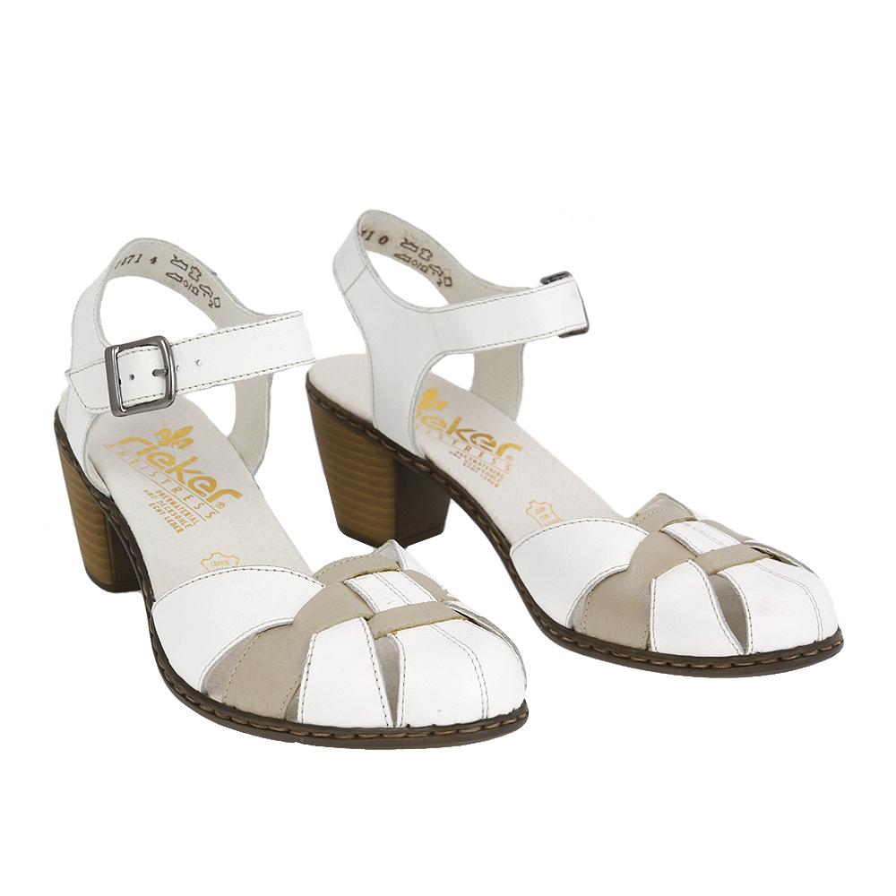 Dámské boty Rieker 40968-80 Bílá Kůže