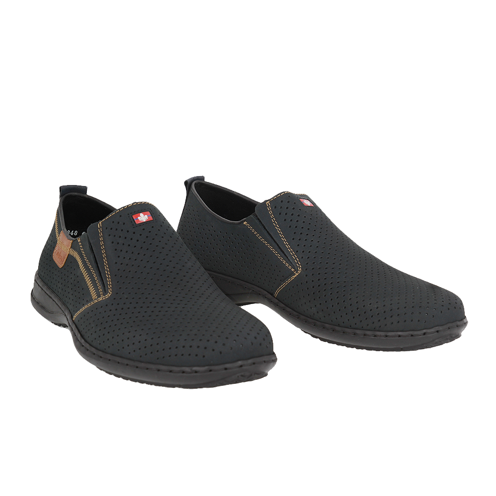 Pánské boty Rieker 01356-14 Modrá Kůže