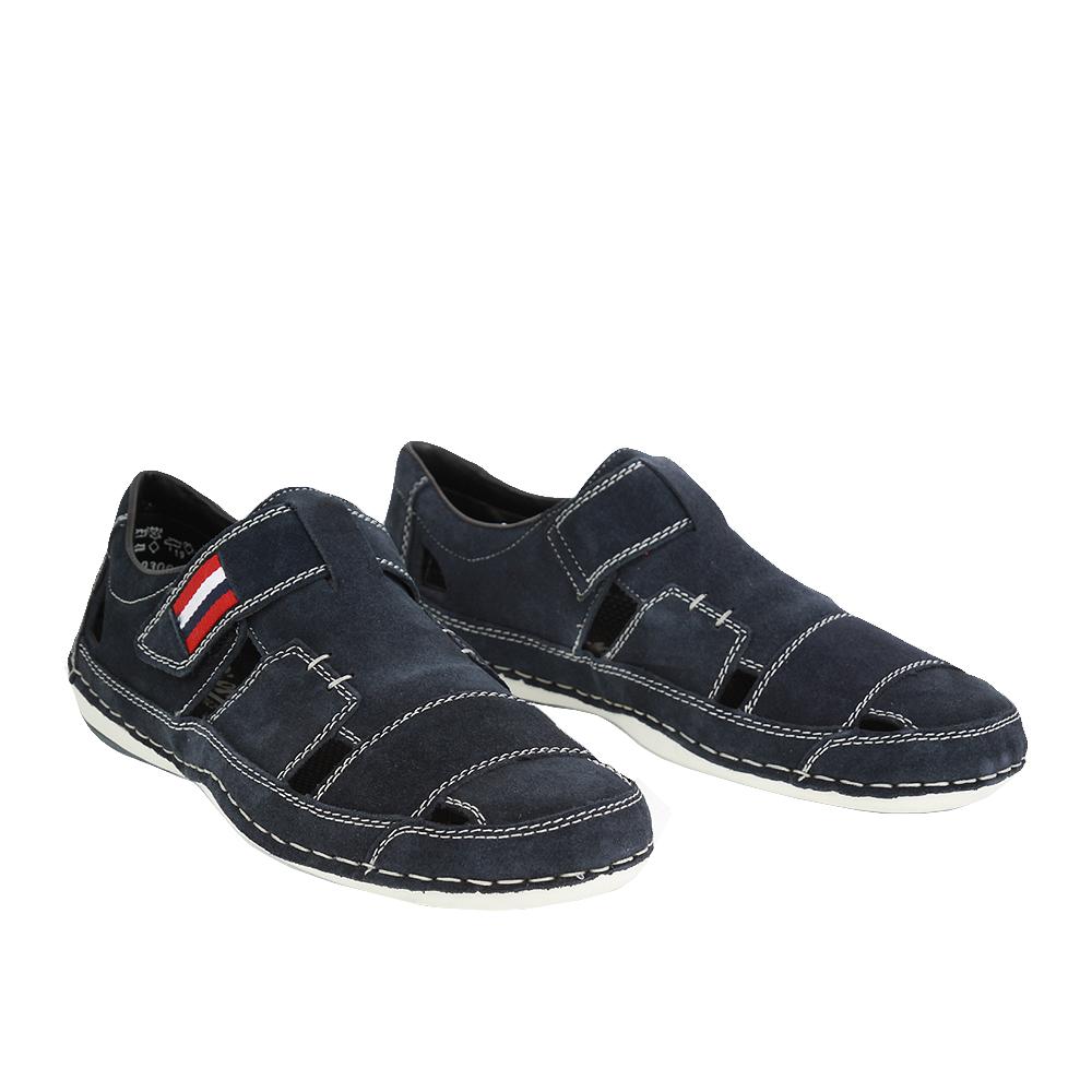 Pánské boty Rieker B9287-14 Modrá Broušená kůže