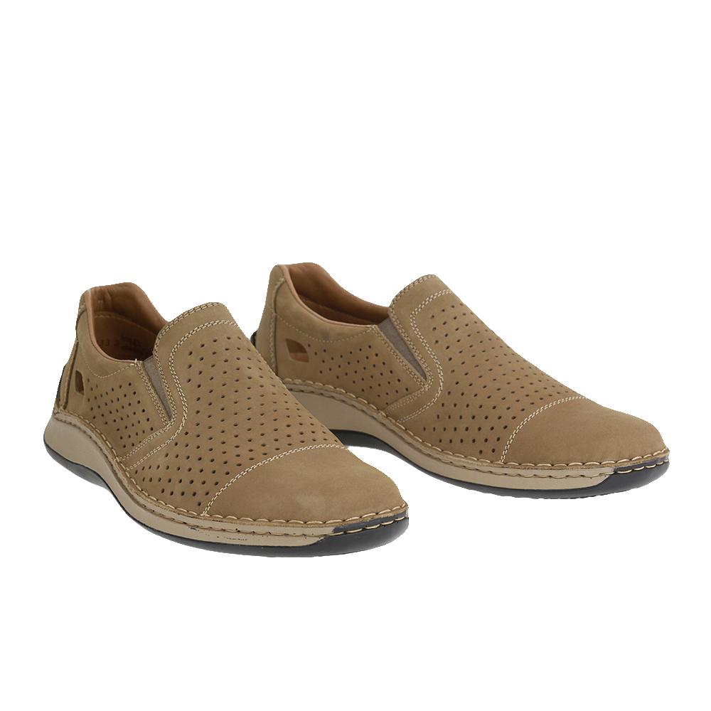 Pánské boty Rieker 05286-64 hnědobéžová Kůže