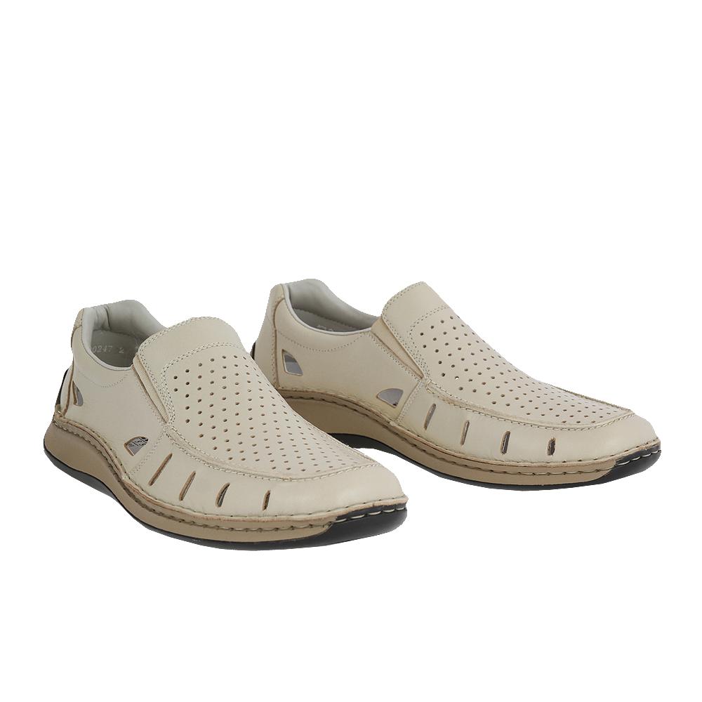Pánské boty Rieker 05276-60 Béžová Kůže