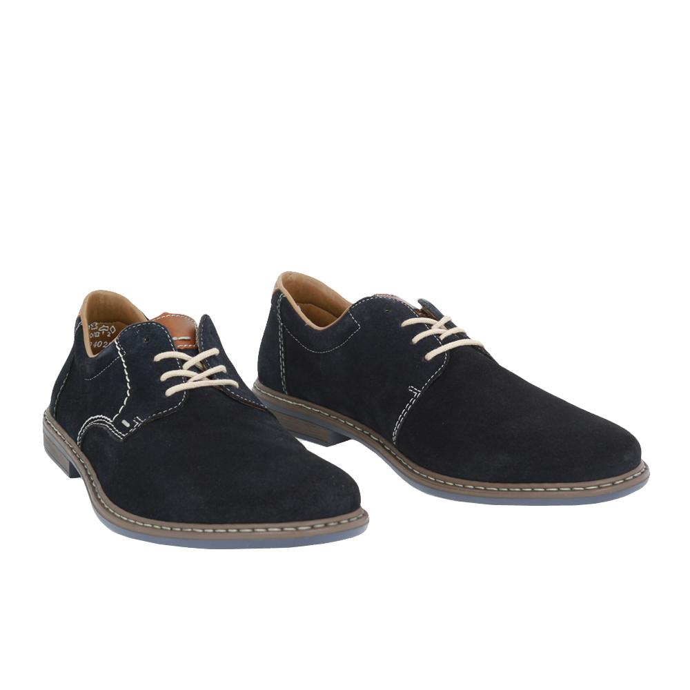 Pánské boty Rieker 13410-16 Modrá Broušená kůže