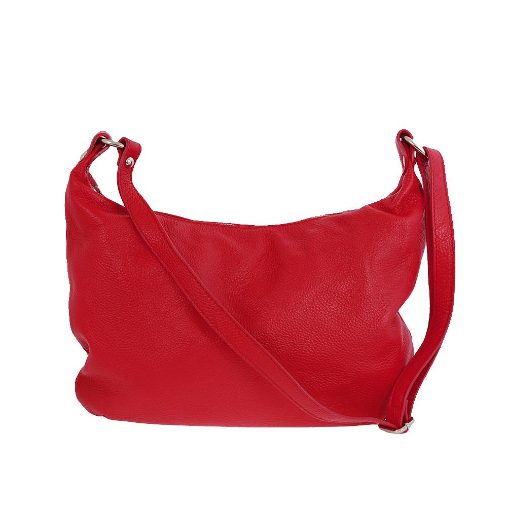 Italská kabelka Balbina allegra Červená Kůže
