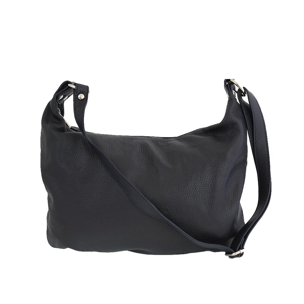 Italská kabelka Balbina allegra Černá Kůže