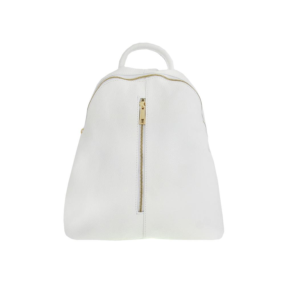 Italská kabelka Armond bianco Bílá Kůže