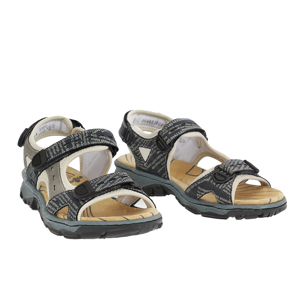 Dámské boty Rieker 68872-14 Modrá kůže/syntetika
