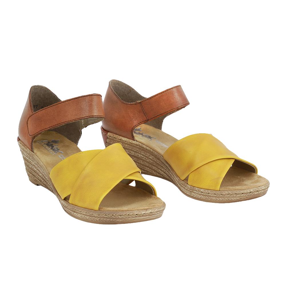 Dámské boty Rieker 62457-68 žlutá kůže/syntetika