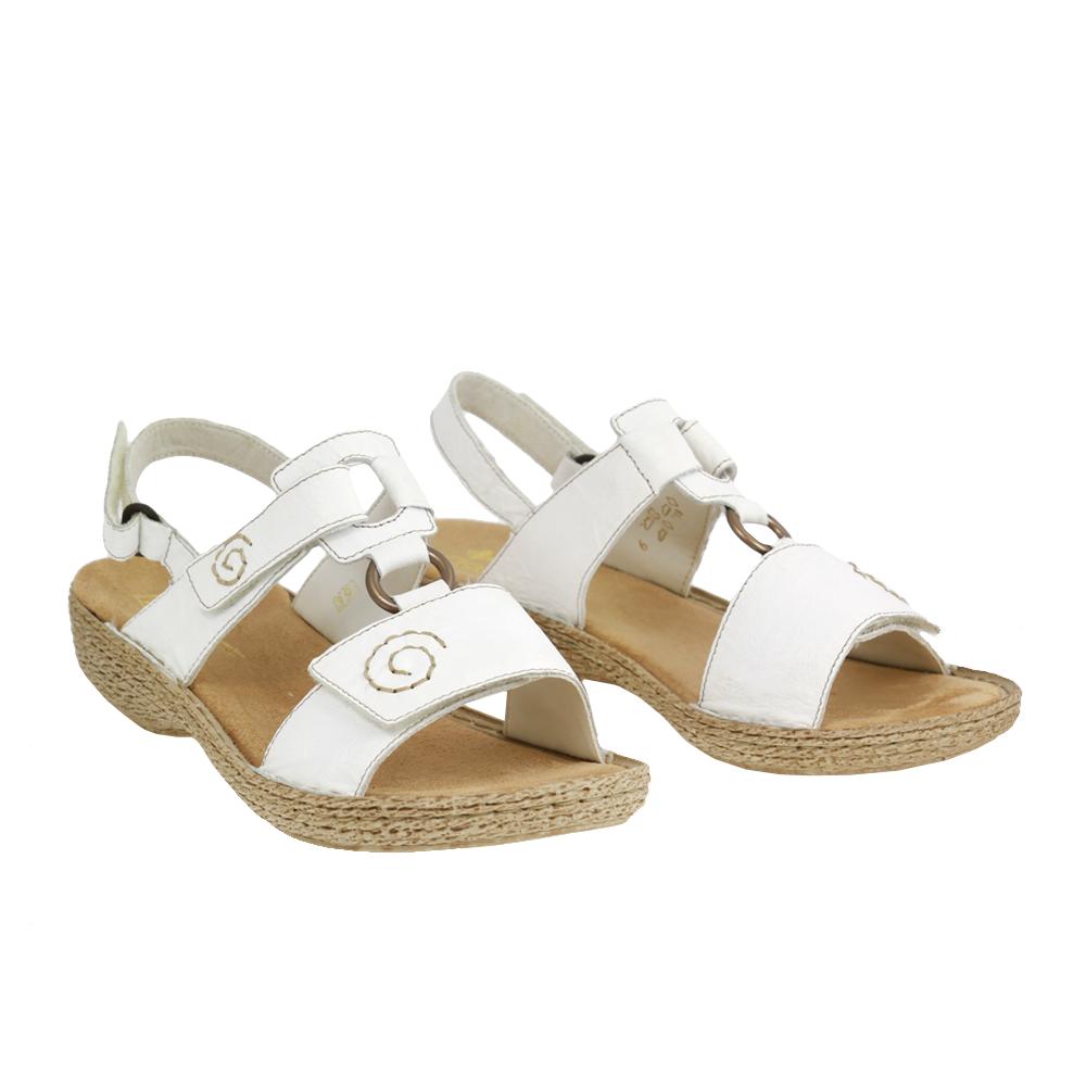Dámské boty Rieker 65863-80 Bílá kůže/syntetika