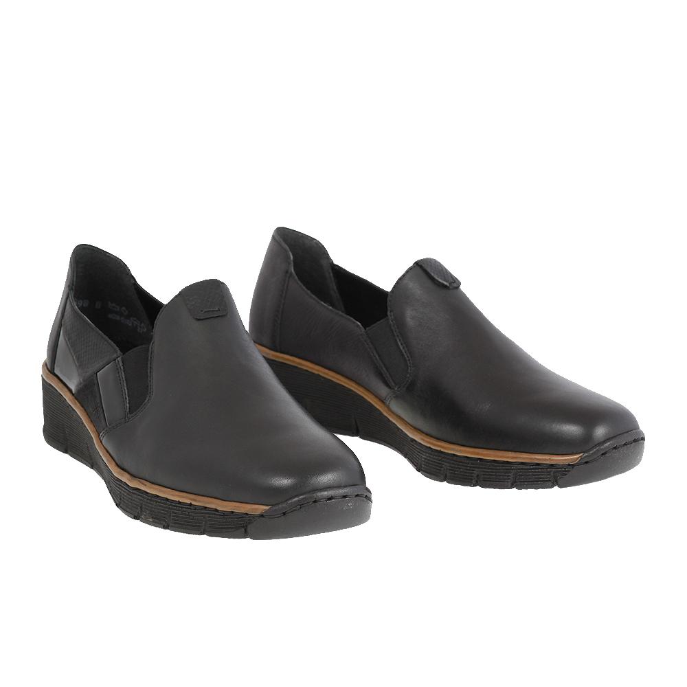 Dámské boty Rieker 53754-00 Černá kůže/syntetika