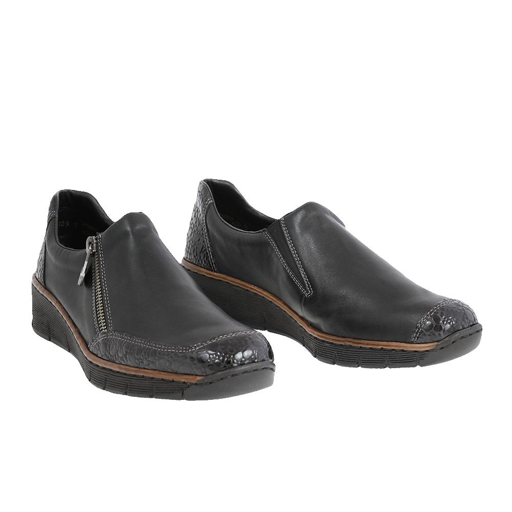 Dámské boty Rieker 53734-45 Černá Kůže