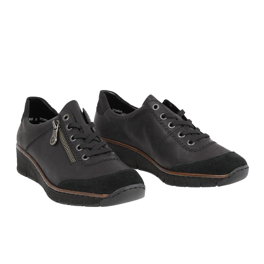 Dámské boty Rieker 53721-00 Černá Kůže
