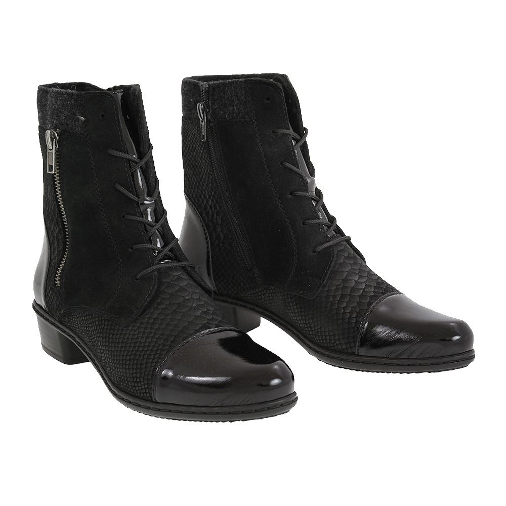 Dámské boty Rieker Y0714-00 Černá Kůže