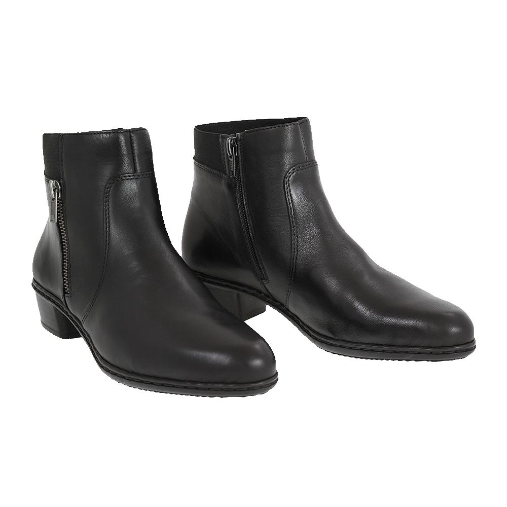 Dámské boty Rieker Y0787-00 Černá Kůže