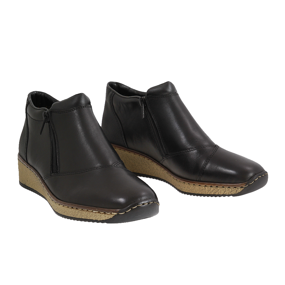 Dámské boty Rieker 56491-00 Černá kůže/syntetika