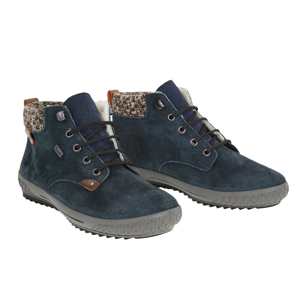 Dámské boty Rieker M6140-14 Modrá Broušená kůže