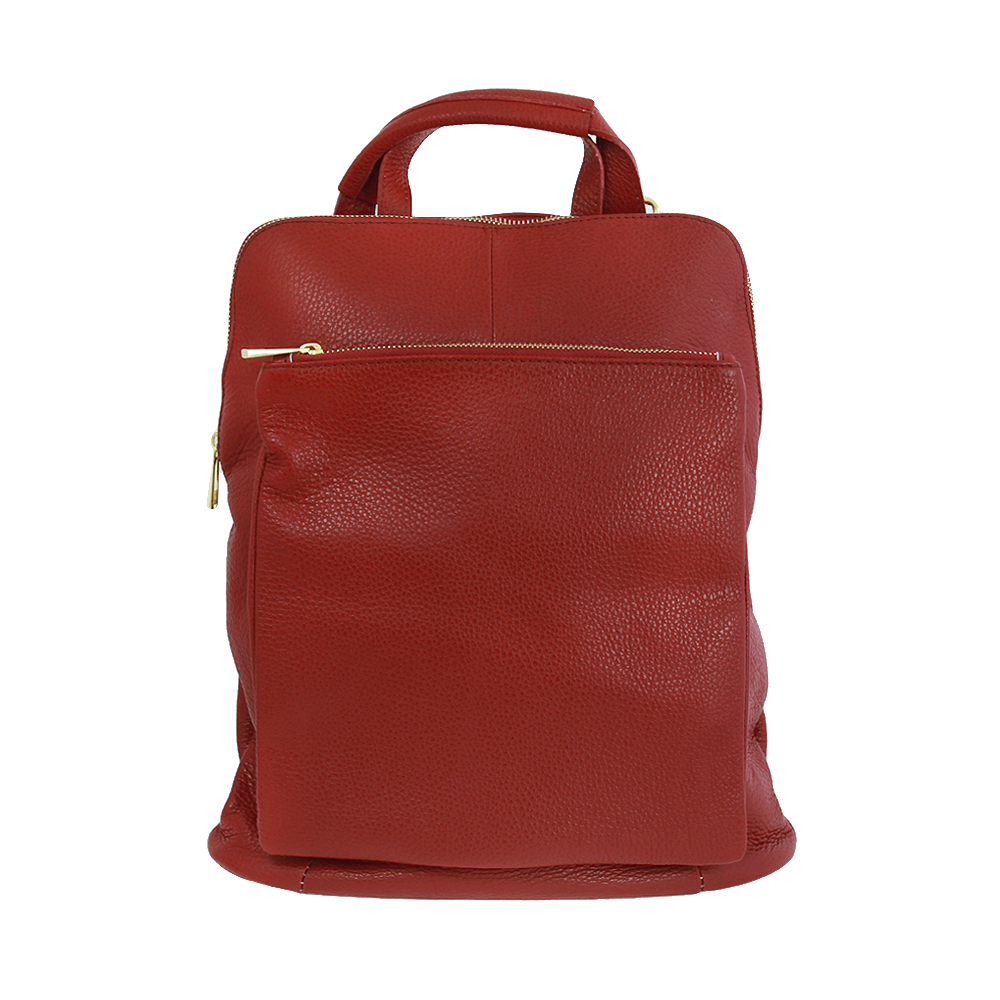 Italská kabelka Pietro moderna Červená Kůže
