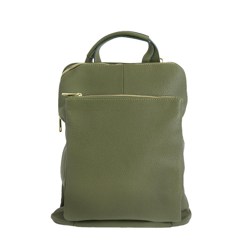 Italská kabelka Pietro moderna Zelená Kůže