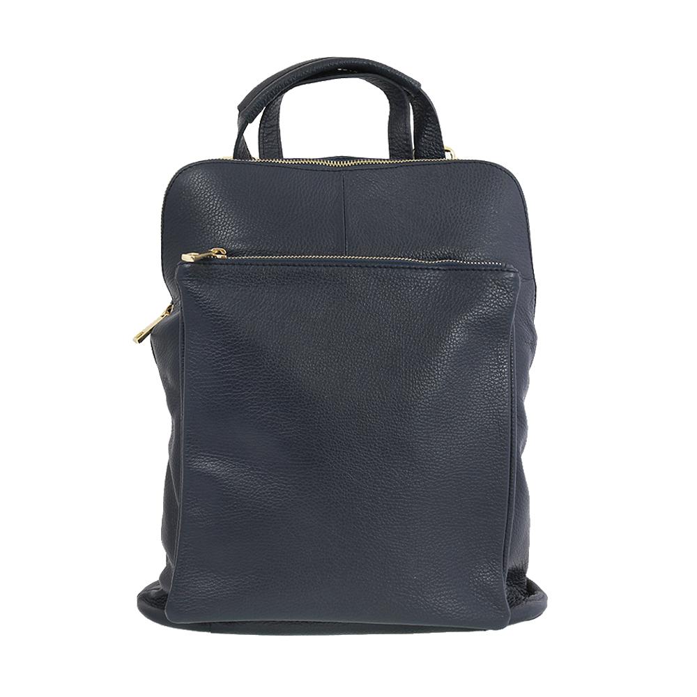 Italská kabelka Pietro moderna Modrá Kůže