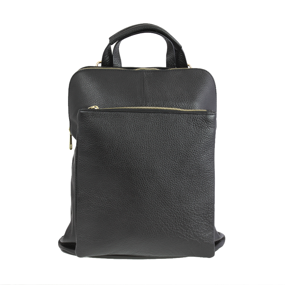 Italská kabelka Pietro moderna Černá Kůže