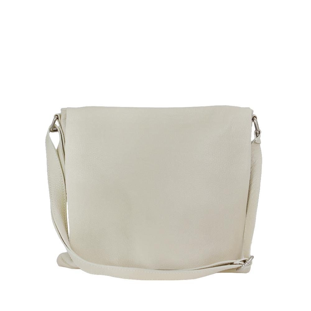 Italská kabelka Adreana classica Béžovobílá Kůže