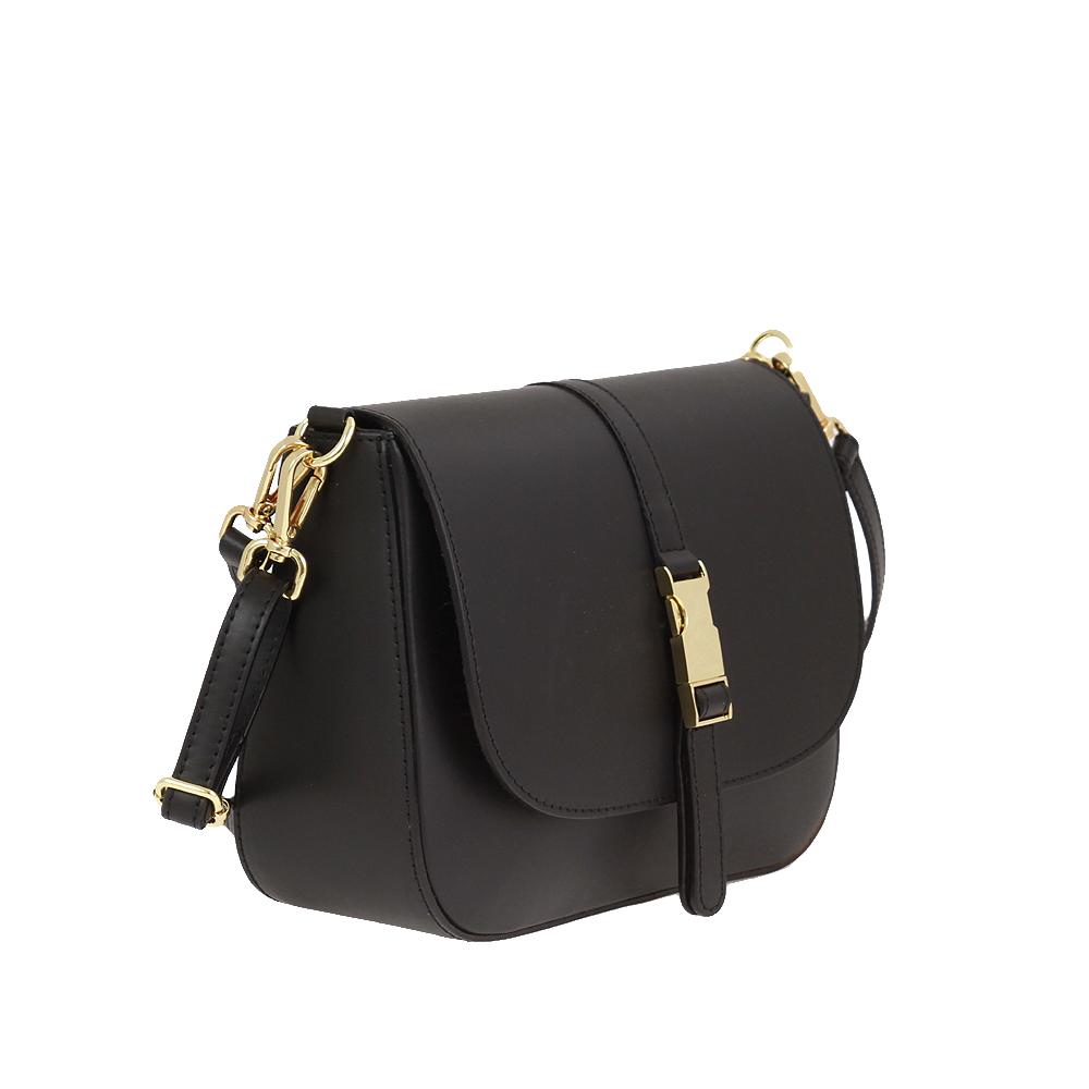 Italská kabelka Blanca moderna Černá Kůže