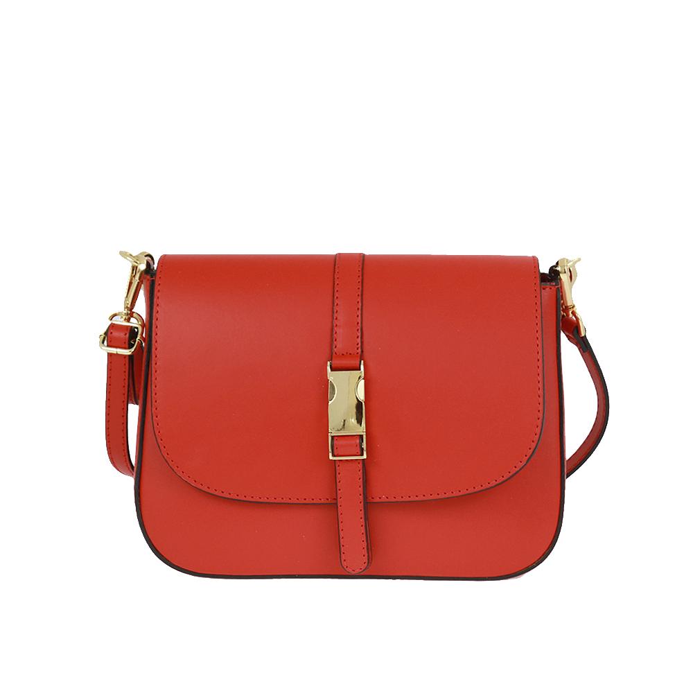 Italská kabelka Blanca moderna Červená Kůže