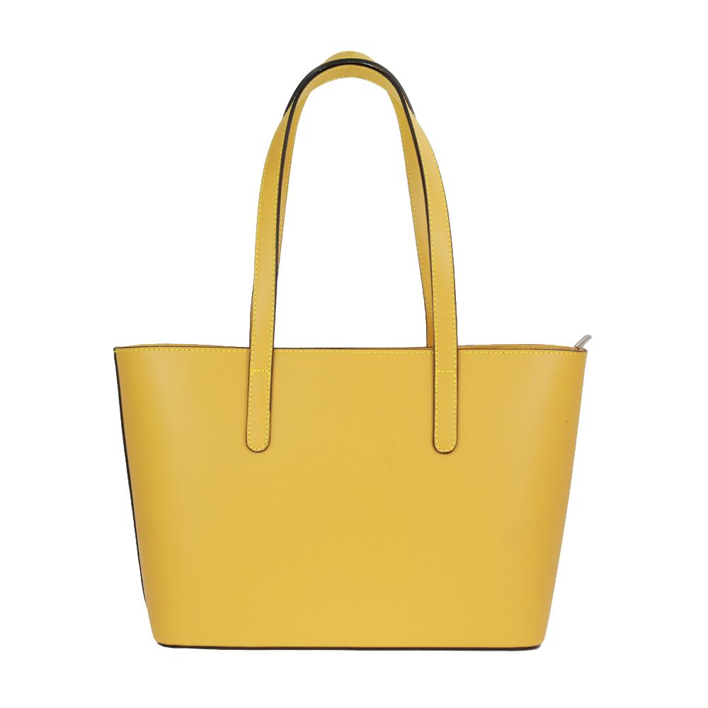 Italská kabelka Dona magica žlutá Kůže