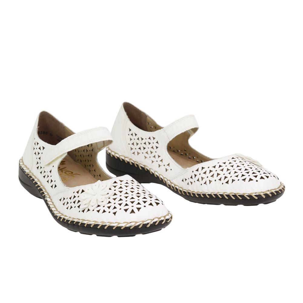 Dámské boty Rieker 49876-80 Bílá Kůže