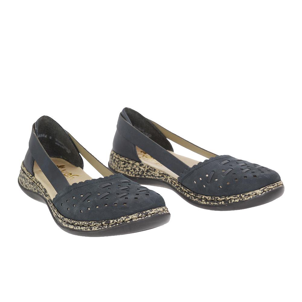 Dámské boty Rieker 46397-14 Modrá Kůže