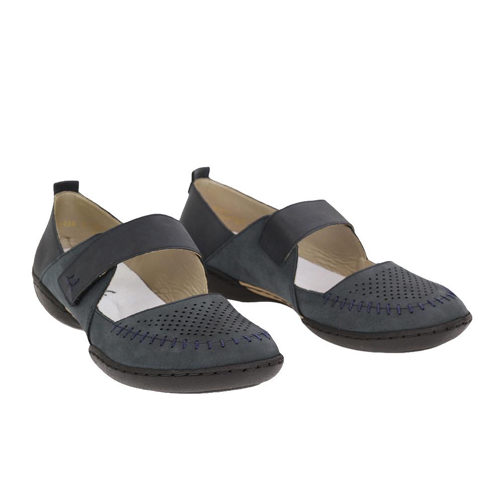Dámské boty Rieker 58876-14 Modrá kůže/syntetika
